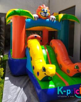 inflables infantiles, renta de inflable en forma de jungla especial, alquilar inflables para fiesta, k-prichi