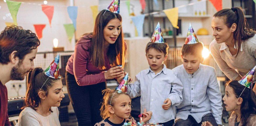 Medidas de seguridad durante una fiesta infantil