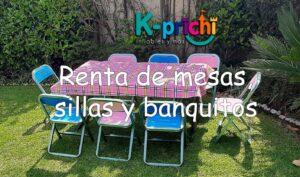 Renta sillas, mesas y banquitos para la fiesta de tu peque