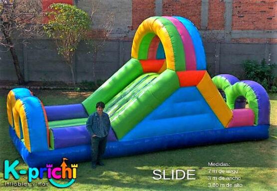 alquilar resbaladilla inflable, juego infantil slide, k-prichi
