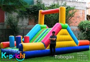 alquilar tobogán para fiestas infantiles, brincolines inflables df, renta de juegos infantiles, k-prichi