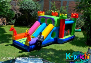 alquilar inflable en forma de castillo, inflable para fiesta infantil en df