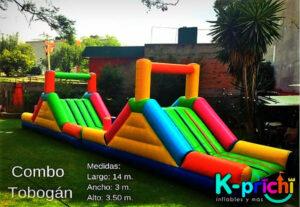 tobogán inflable en renta, ideas para fiestas infantiles, k-prichi
