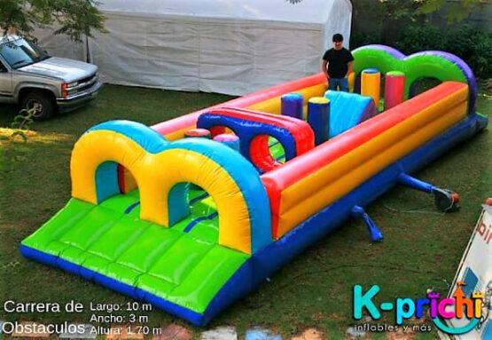 cotizar inflable en forma de carrera con obstáculos, renta de inflables para niños, k-prichi