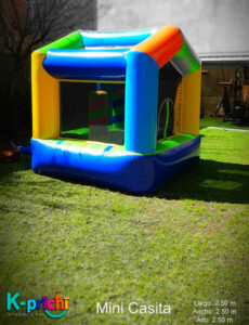 inflable, renta de casita en forma de casita para fiesta infantil, k-prichi