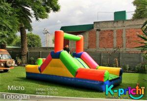 inflables para niños, renta de mini tobogán para fiesta infantil en ciudad de méxico, k-prichi