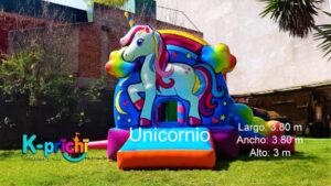 renta de inflable de unicornio para fiestas, unicornio inflable gigante, inflable unicornio renta