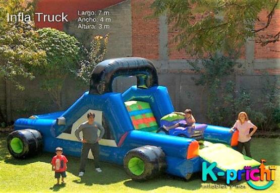 renta de juego inflable en forma de camioneta, cuanto cuesta un inflable para fiesta, k-prichi