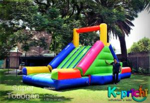 rentar tobogán inflable, juegos inflables para rentar en ciudad de mexico, k-prichi