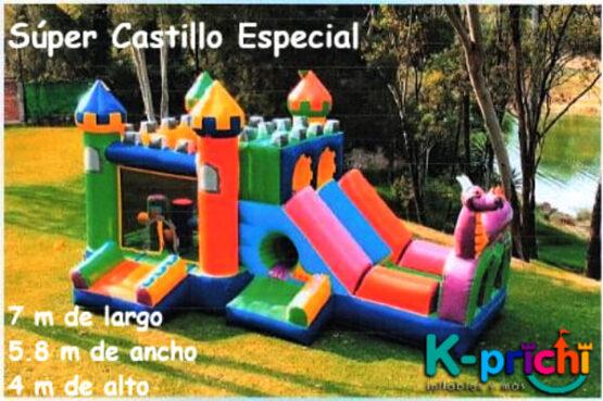 súper castillo especial, castillo inflable a la renta, inflables para fiestas de niños, k-prichi