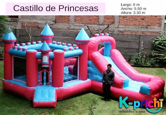Si tu pequeña es fanática de las princesas de Disney la renta de juegos inflables como este Castillo de princesas será la mejor opción. Llámanos y solicita tu cotización para rentar inflable en el DF