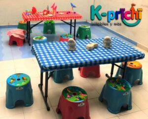 renta de mobiliario infantil en CDMX, sillas, mesas ,banquitos para tus fiestas