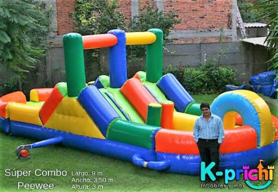 rentar inflable pee wee, cotización renta de inflables para fiesta de niños, k-prichi