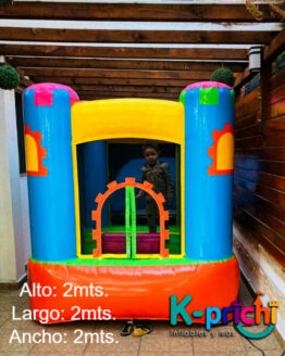 juego inflable, brincolín en forma de castillo, rentar inflables en cdmx, k-prichi