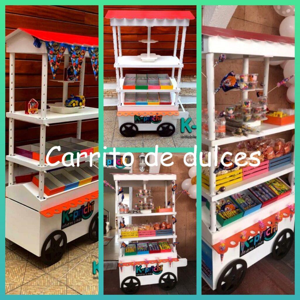 carrito de dulces,fiestas infantiles,economico, mesa de dulces