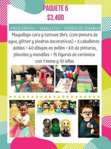 servicio de pintacaritas en el df, donde rentar caballetes y dibujos para fiestas infantiles, cerámica para pintar, maquillaje infantil para fiestas