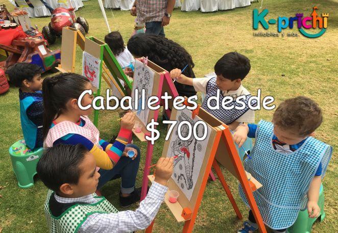 renta de caballetes para fiestas de niños, caballetes a la renta para fiestas infantiles cdmx